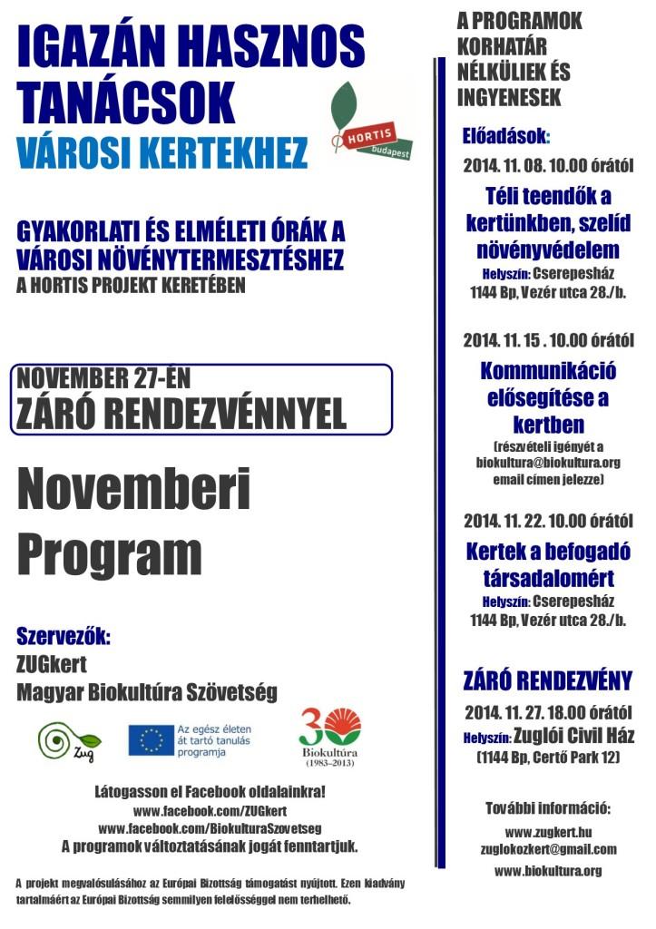 Novemberi program
